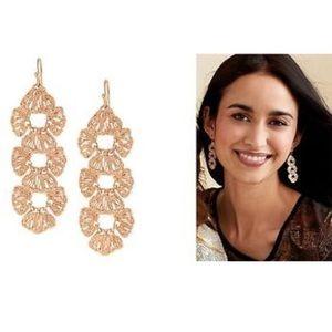 ::Stella & Dot Rose Gold Geneve Lace Earrings